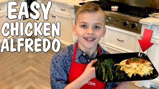 Kid Size Cooking: Best Chicken Fettuccini Alfredo