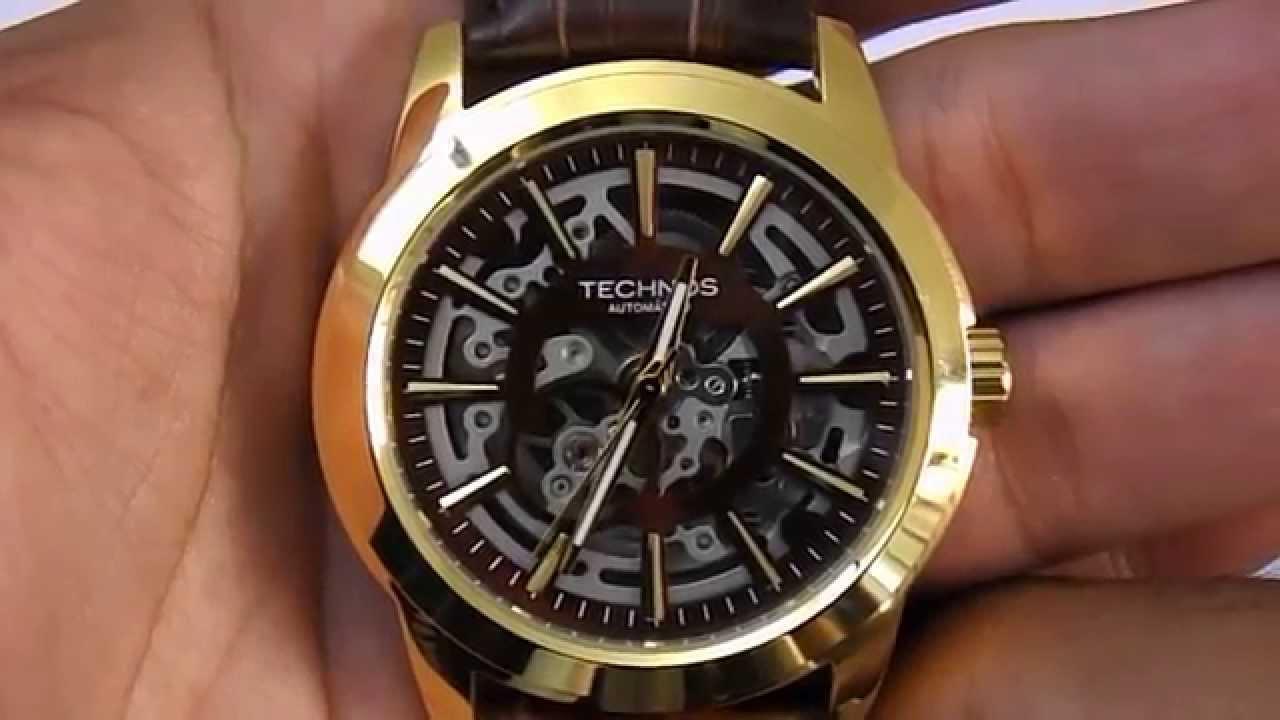 481aa9c76b6 Relógio Automático Technos Mw6166b 2m - YouTube