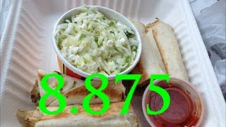 Zoe's Kitchen Review - Chicken Rolls Ups & Marinated Slaw