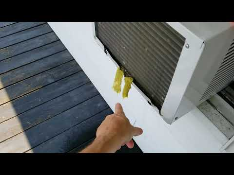 Air conditioner REMOVE WATER NO HOLES TO DRILL  2018 update