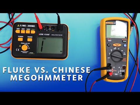 Fluke vs  Chinese Megohmmeter - YouTube