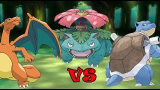 Repeat youtube video Charizard vs Blastoise vs Venusaur