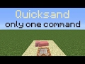 MCPE: How To Make Quick Sand With Only One Command Block - Minecraft PE 1.1 Command Blocks Creations