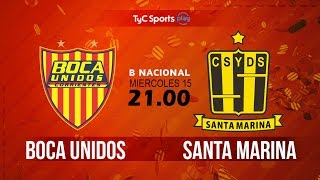 Boca Unidos vs Deportivo Santama. full match
