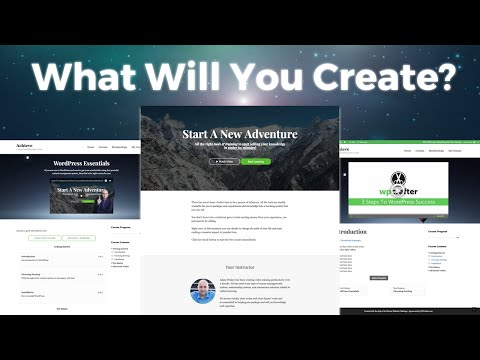Using the WordPress page builder - How To Create An Online Course Website