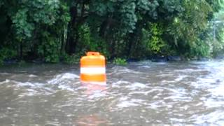 Amazing flooding on New York Ave | Huntington, NY |  Aug 10, 2012