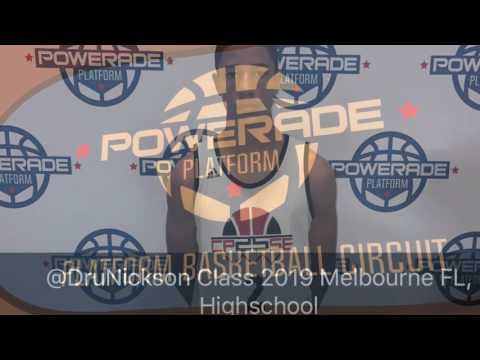 Dru Nickson Class 2019 #1 PG Florida ( Indianapolis 2017 Powerade Platform )