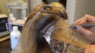 Мелирование вуалевой техникой близко к корням волос