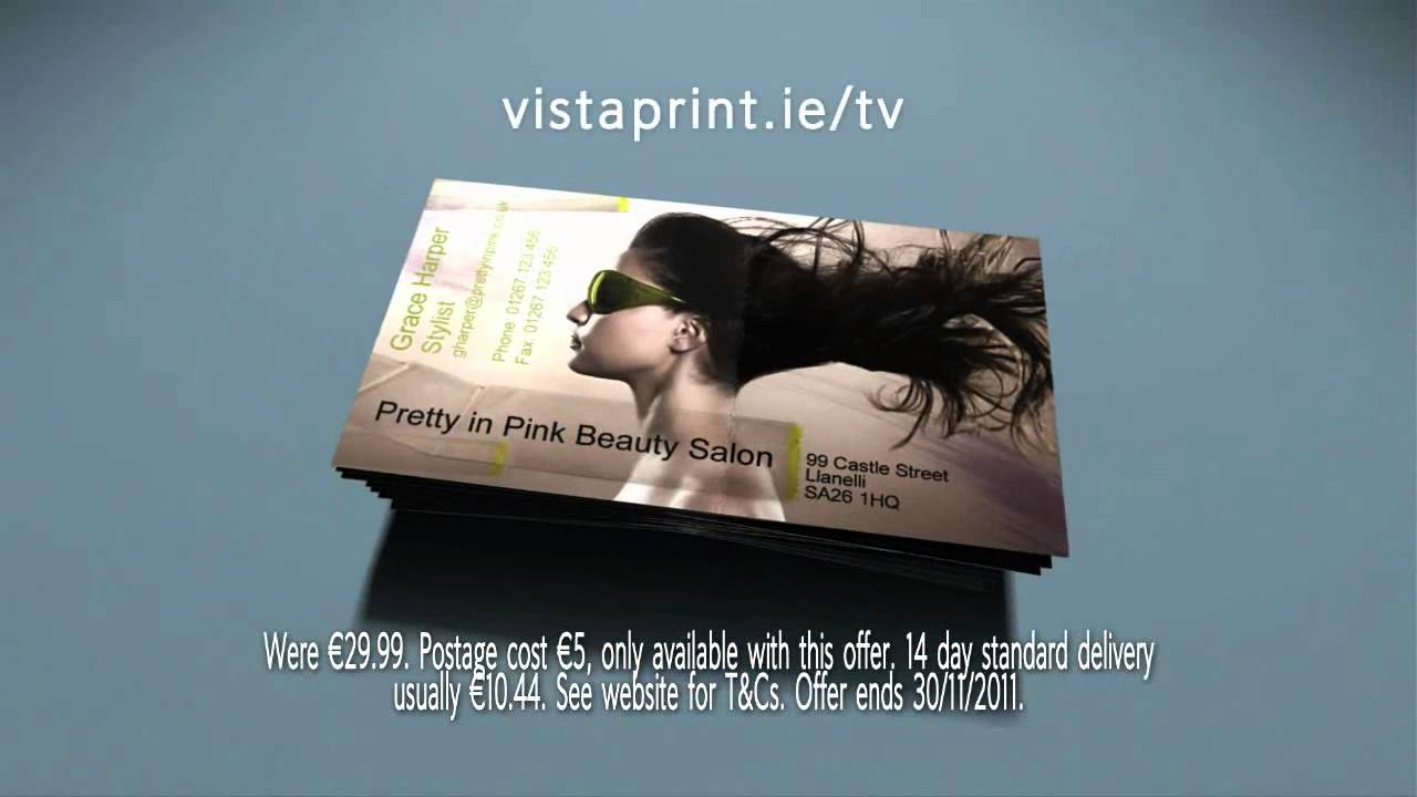 Vistaprint business cards tv advert for ireland 2011 youtube reheart Image collections