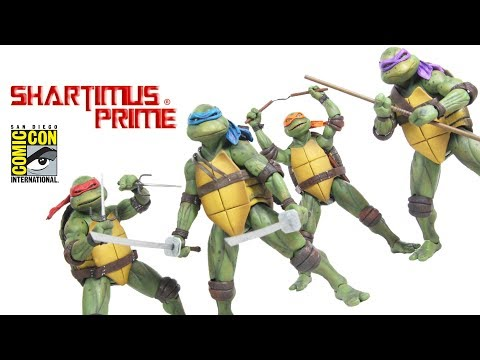 NECA Toys TMNT SDCC 2018 Exclusive 7 Inch Scale 1990 Movie Action Figure Review Set