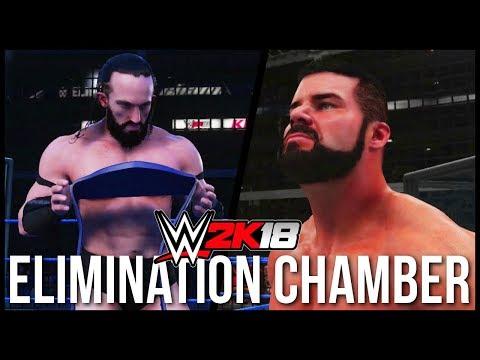 WWE 2K18 | ELIMINATION CHAMBER - Roode vs Owens vs Neville vs AJ Styles vs Gallagher vs Rhyno