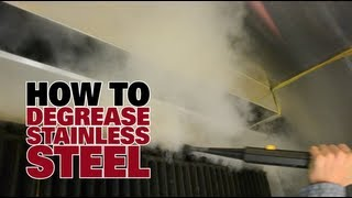 How to Degrease Stainless Steel - Dupray Steam Cleaners