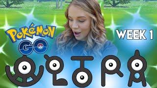 4 SHINIES! Ultra Bonus Week 1 in Pokemon Go! Johto Spawns, Unown Hatches and More!