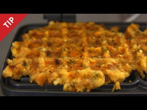 How to Make Waffles with Leftover Stuffing - CHOW Tip