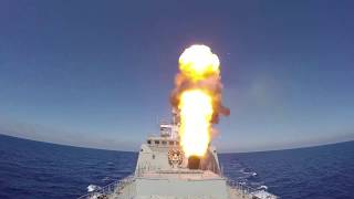 Корабли ВМФ РФ осуществили пуски 4-х крылатых ракет «Калибр» по объектам ИГИЛ в р-не Пальмиры