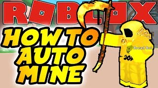 How To AUTO Mine In Roblox Mining Simulator!