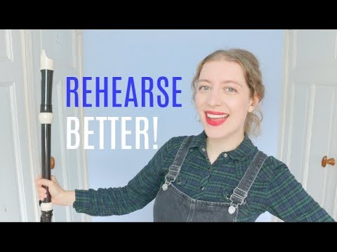 5 tips for a GOOD REHEARSAL!   Team Recorder