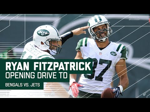 New York Jets Open the Season with Nice TD Drive!   Bengals vs. Jets   NFL