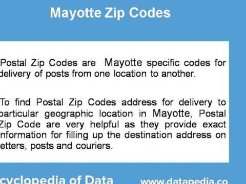 About Mayotte Postal Zip Code Finder