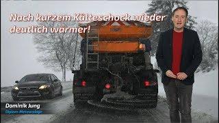 Kälteschock mit Schneeregen zum Wochenstart! (Mod.: Dominik Jung)