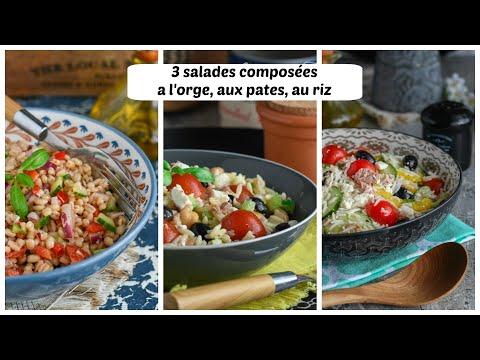 idées-d'accompagnement-de-poulet-roti-et-grillades,-3-recettes-salades-composées-faciles-et-rapides