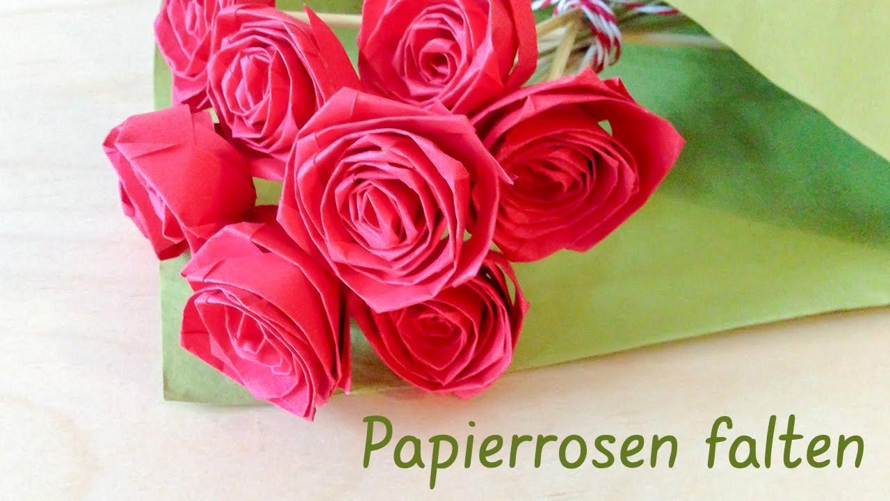 Falten Papier-Rosen - einfache Anleitung zum Selbermachen