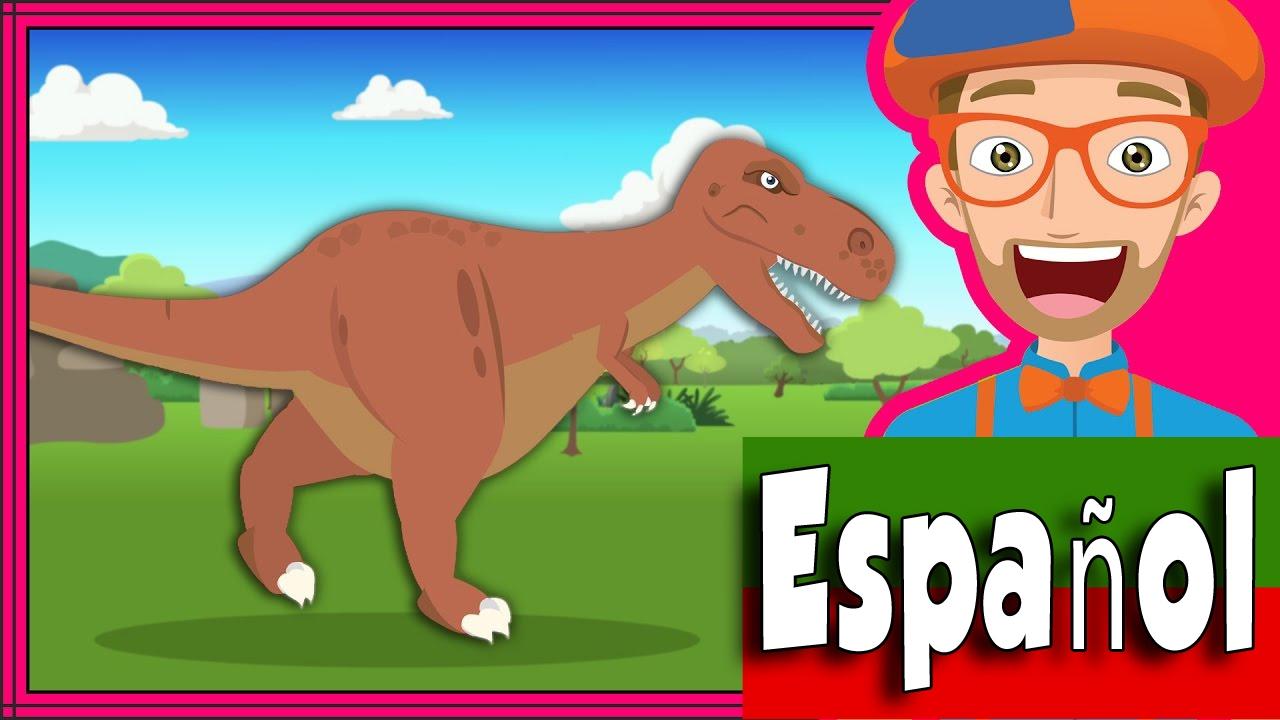 Canción Los Dinosaurios Por Blippi Español Canciones Infantiles Dinosaurios Para Niños Youtube