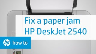 Fixing a Paper Jam - HP Deskjet 2540 All-in-One Printer | HP Deskjet | HP