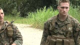 Marines patrol with Singapore forces