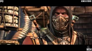 Mortal Kombat X Фаталити Скорпиона +сравнение графики PC и XBOX ONE