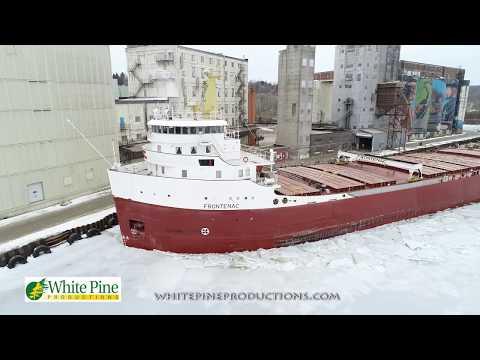 Steamship Frontenac Breaking Ice Midland Ontario Canada
