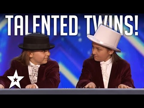 Talented Twins Nail Flight Of The BumbleBee On Keyboard! Americas Got Talent