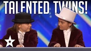 Talented Twins Nail Flight Of The BumbleBee On Keyboard! America's Got Talent