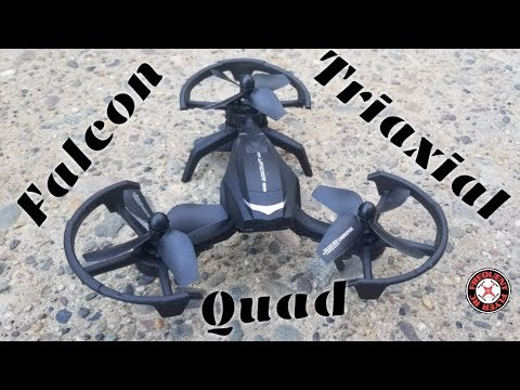 Nihui Falcon Triaxial Quadcopter Test Flight