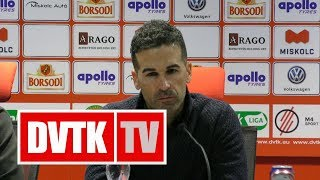Fernando Fernández értékelése | DVTK - Kisvárda | 2018. december 8. | DVTK TV