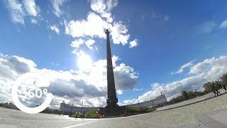 Прогулки по Москве. Поклонная гора//Панорамное видео 360° 4K