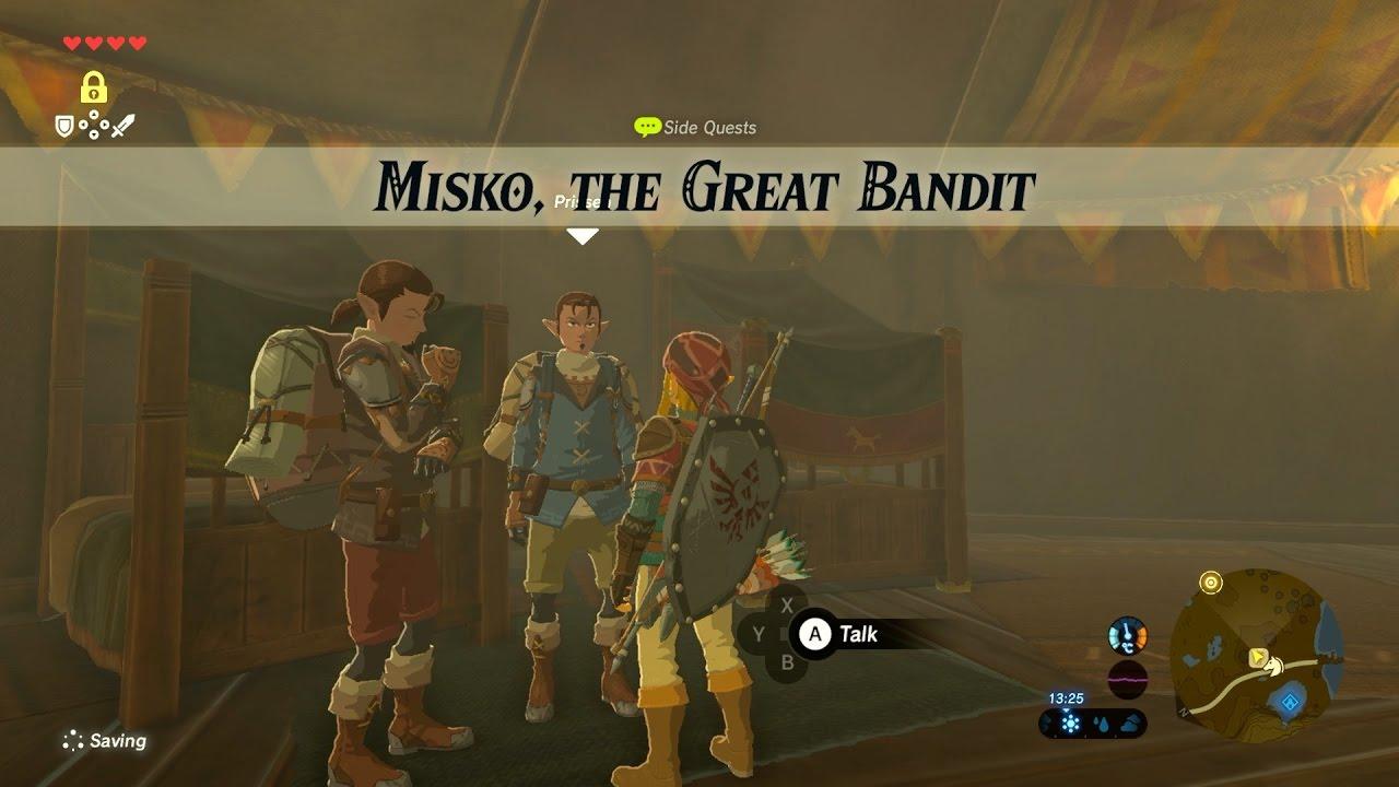 Misko The Great Bandit Zelda >> Zelda Botw Misko The Great Bandit Side Quest Youtube
