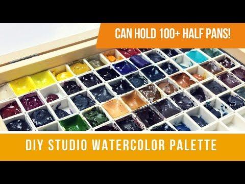 DIY Mega Studio Watercolor Palette | Can Hold 100+ Half Pans!