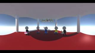 Happy Birthday - 3D Animation - 360° video