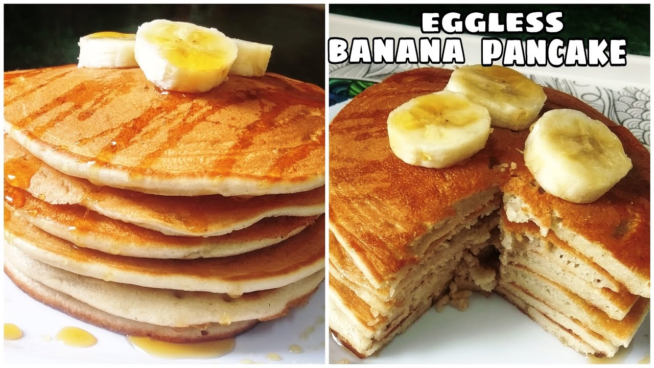 Eggless banana pancake recipe I बिना अंडे का पैनकेक रेसिपी l banana pancakes without eggs