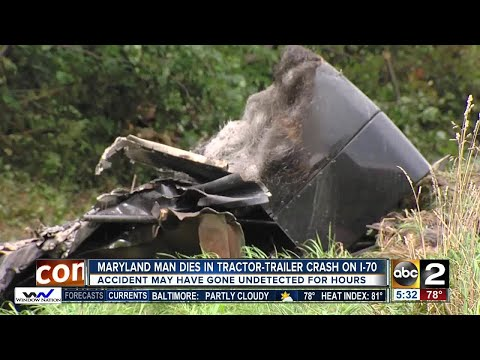Tractor-trailer driver dies in crash on I-70 in Frederick