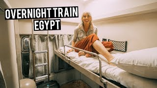 THE BEST TRAIN IN EGYPT | Watania Train | First Class Sleeper - Cairo to Aswan