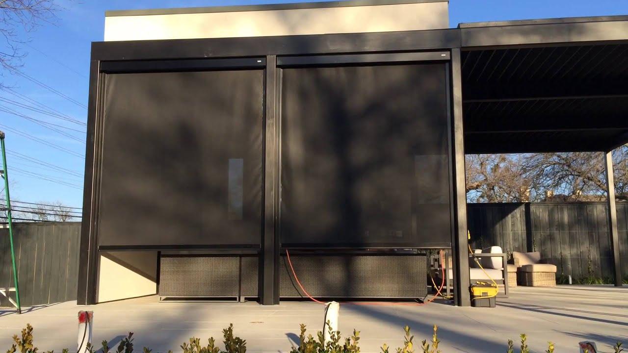 somfy powered corradi 110v exterior shades youtube