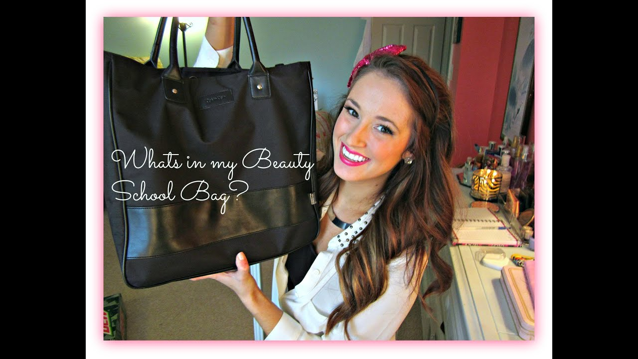 Beauty School Whats In My Bag Organizing Tips