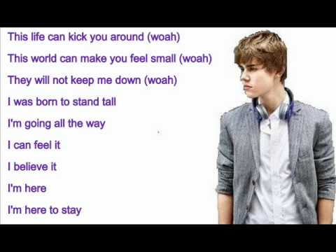 Justin bieber - Born to be somebody with lyrics on screen - YouTube