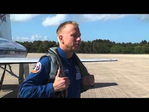 Shuttle Discovery Crew Arrives at Kennedy SC for STS-133 Launch