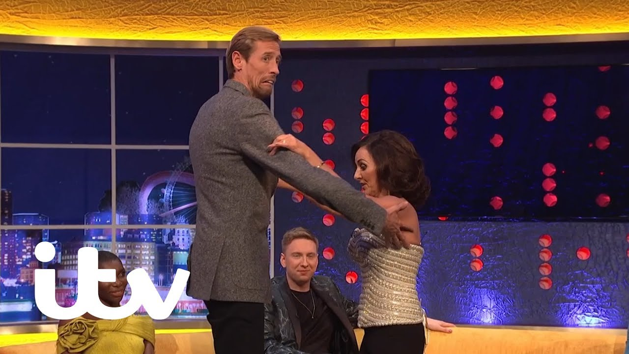 Download Peter Crouch Gets a Dance Lesson From Shirley Ballas   The Jonathan Ross Show   ITV