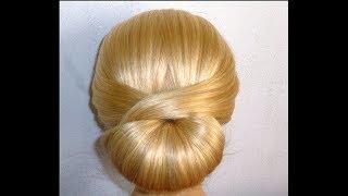 Шикарно, быстро, просто!!! Причёска  для средних/длинных волос самой себе за 5 минут