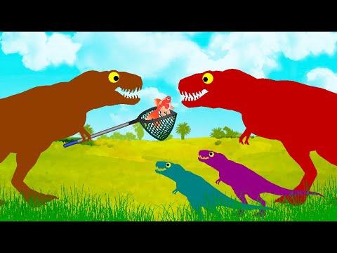 Dinosaurs Cartoons | Tyrannosaurus Rex Family And The Gold Fish