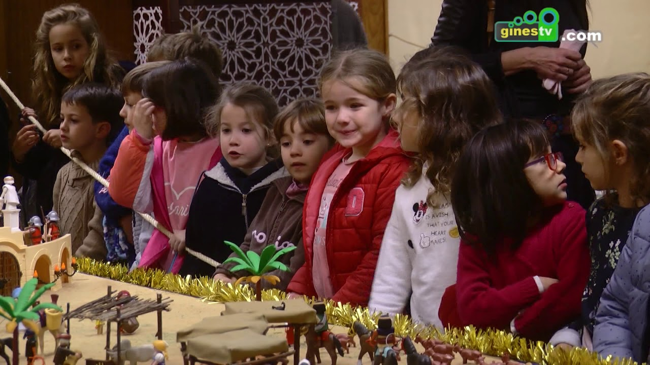Con la visita de escolares abre sus puertas un espectacular Belén de Playmobil en Gines